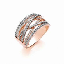 Two tone sparkle  wrap ring