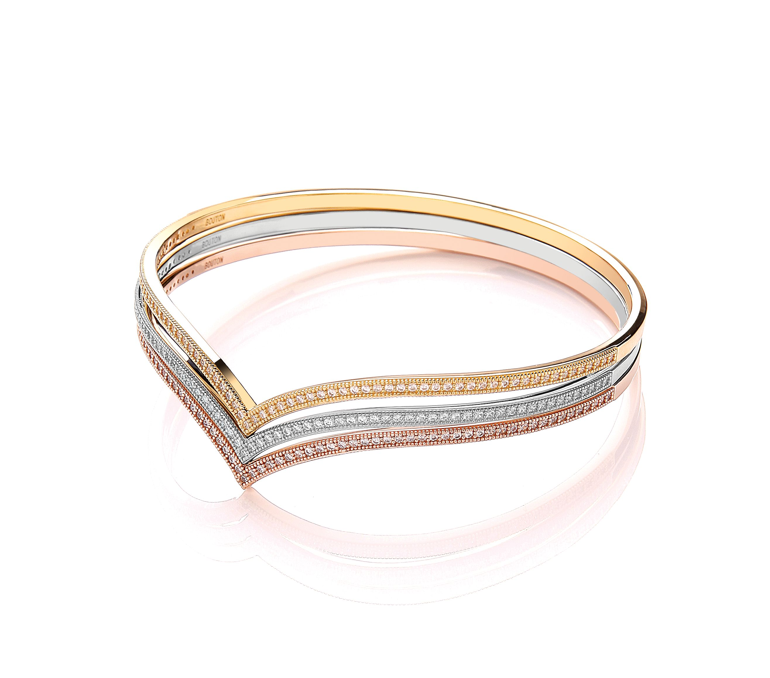 Rose gold wishbone bangle