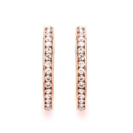 Buckley London Rose Gold Crystal Hoop Earrings