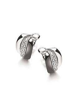 Black Rhodium Russian Earrings