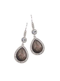 BROWN SHELL PEAR DROP EARRINGS