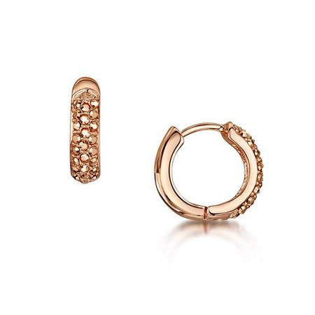 Buckley London Reversible pave huggie earring