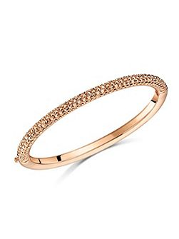 Metallic pave dome bangle