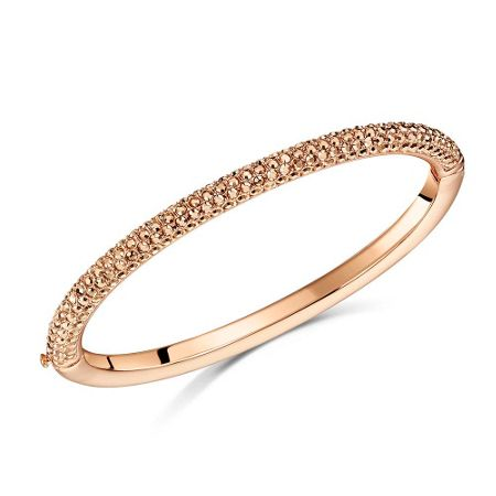 Buckley London Metallic pave dome bangle