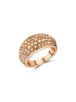 Metallic pave chunky dome ring