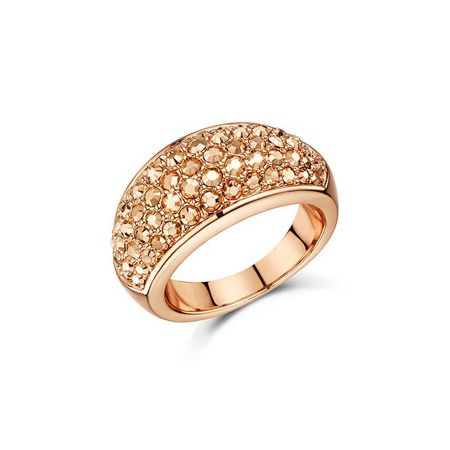 Buckley London Metallic pave chunky dome ring