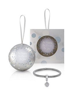 Christmas bauble bracelet