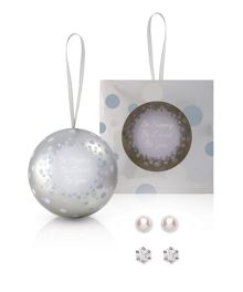 Buckley London Christmas bauble earrings