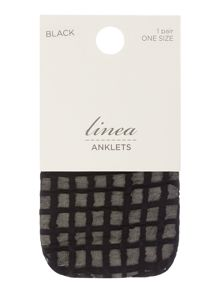 Sheer grid anklet