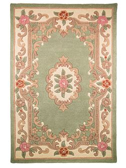 Aubusson green rug 120x180