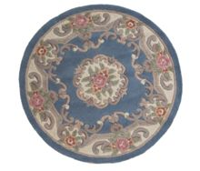 Flair Rugs Aubusson blue round rug 120x120
