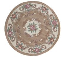 Flair Rugs Aubusson beige round rug 120x120