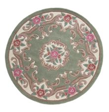 Flair Rugs Aubusson green round rug 120x120