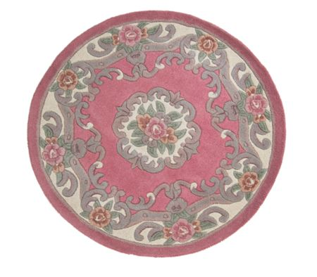 Flair Rugs Aubusson pink round rug 120x120