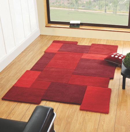 Flair Rugs Collage Red Rug 90X150