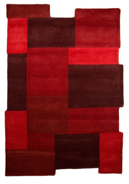 Flair Rugs Collage Red Rug 120X180