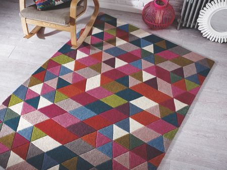 Flair Rugs Prism pink and multi rug 80x150cm