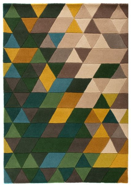Flair Rugs Prism green and multi rug 120x170cm