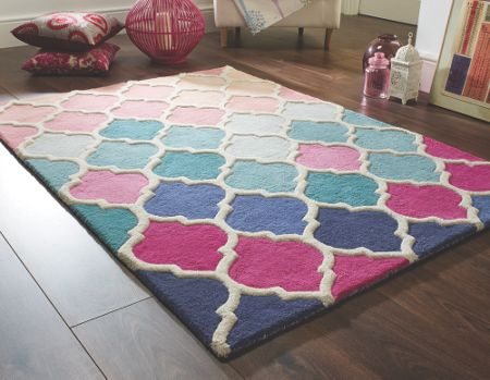 Flair Rugs Rosella pink and blue rug 120x170cm