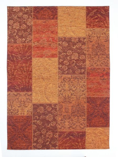 Flair Rugs Chenille  terracotta rug 120x170
