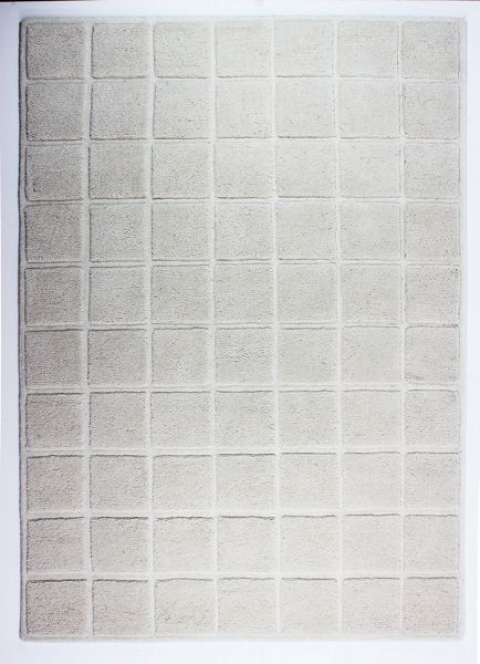 Flair Rugs Textured blocks ivory rug 160x230cm