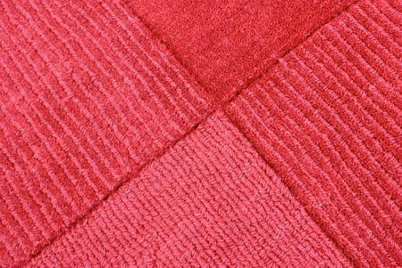 Flair Rugs Wool squares red rug 60x100cm