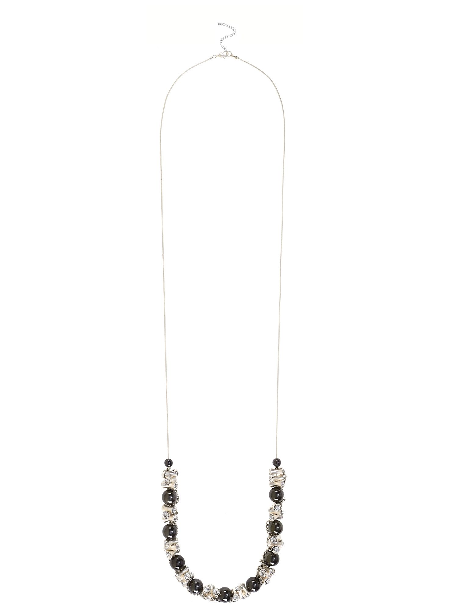 French Connection Ball chain and diamante pendant necklace