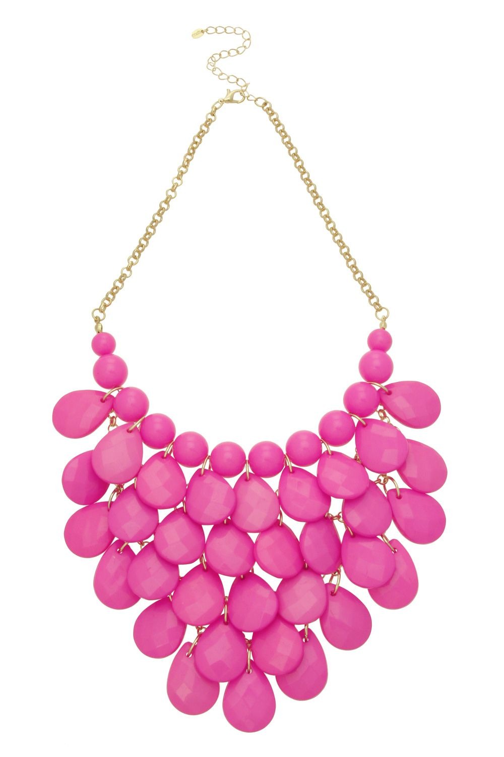 Shakey cascade collar necklace