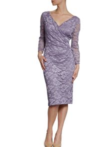 Gina Bacconi Stretch lace with sequins dress