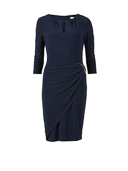 Ps jersey dress with waist and neck trim
