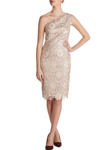 Gina Bacconi Bouquet guipure dress