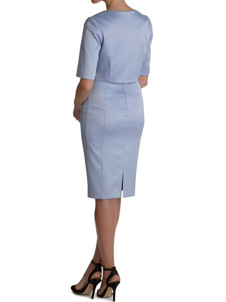 Gina Bacconi Stretch sateen dress and jacket