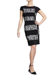 Lace and ps jersey panel dress