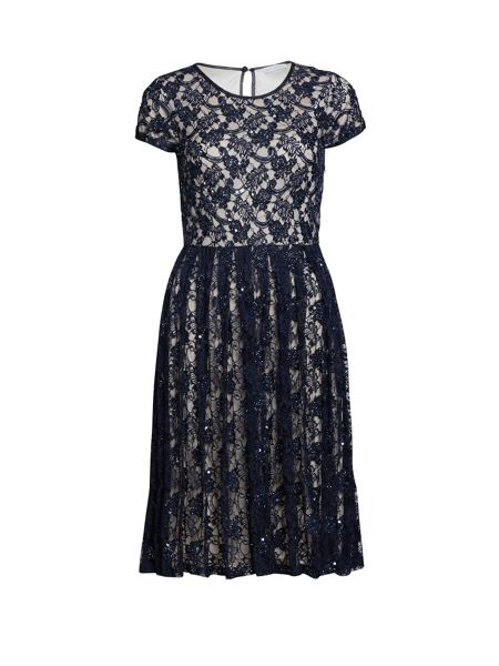 bacconi beaded lace dress navy house of fraser