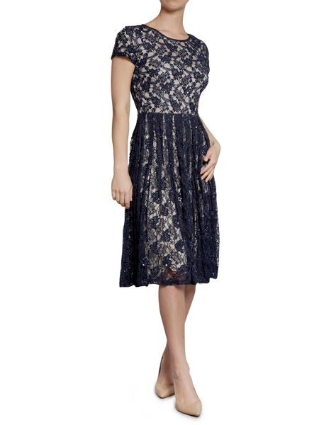 Gina Bacconi Beaded lace dress