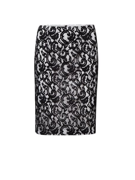 Gina Bacconi Lace over jersey pencil skirt