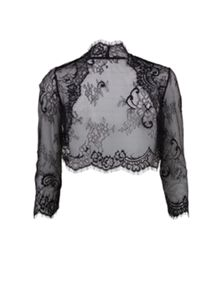 Gina Bacconi Chantilly scallop lace bolero