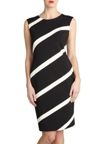 Gina Bacconi Soft handle ponti dress with bands