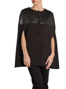 Gina Bacconi Matt sequin and ponti cape