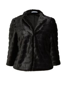 Gina Bacconi Faux fur cropped jacket