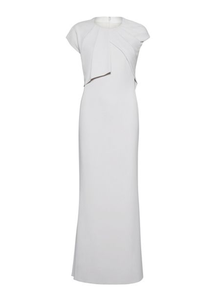 Gina Bacconi Stretch moss crepe dress