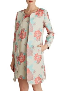 Gina Bacconi Floral jacquard dress and jacket