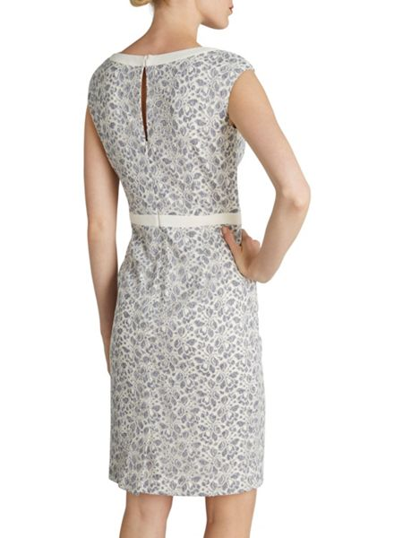 Gina Bacconi Chambray corded net dress with bands