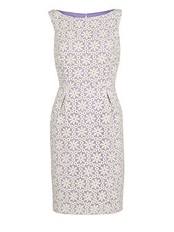 Daisy embroidered organza dress
