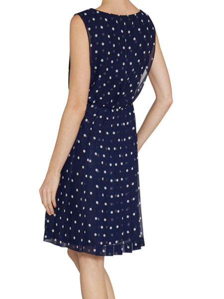 Gina Bacconi Spot chiffon short dress