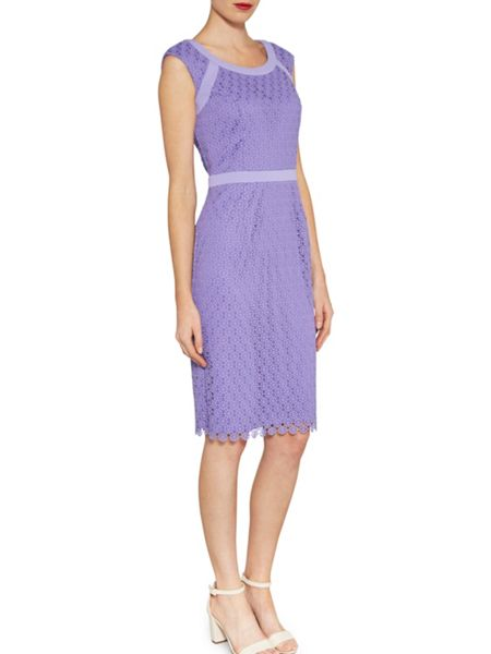 Gina Bacconi Crochet floral guipure dress