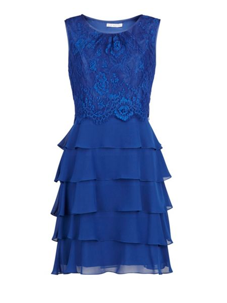 Gina Bacconi Chiffon and lace dress