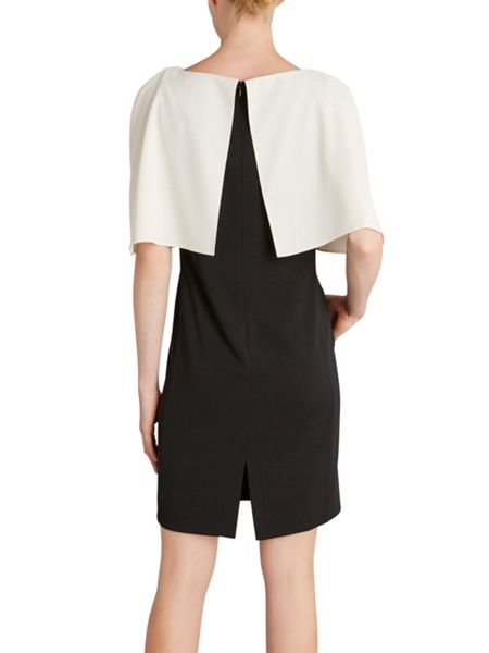 Gina Bacconi Stretch moss crepe dress and cape