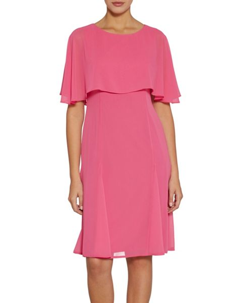 Gina Bacconi Chiffon dress with cape