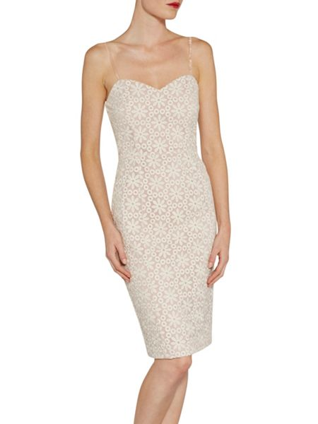 Gina Bacconi Daisy embroidered organza dress